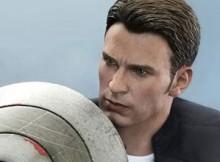 Hot Toys MMS 243 Captain America : TWS - Captain America & Steve Rogers
