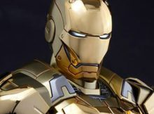 Hot Toys MMS 341 Iron Man 3 - Mark XXI Gold Chrome Version
