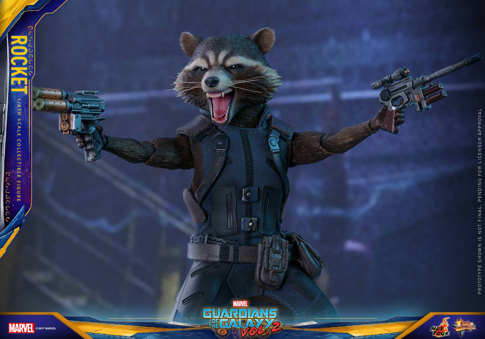 Hot Toys Mms 410 Guardians Of The Galaxy 2 Rocket Raccoon Super Deluxe Vinyl Figure Are Back Star Lords Gang Misfits Will Continue Their Saving Adventures While Exchanging Banter With Each Other In Upcoming