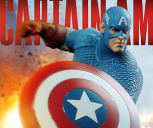 Captain America Marvel Statue