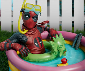 Kid Pool Premium Format Marvel Statue