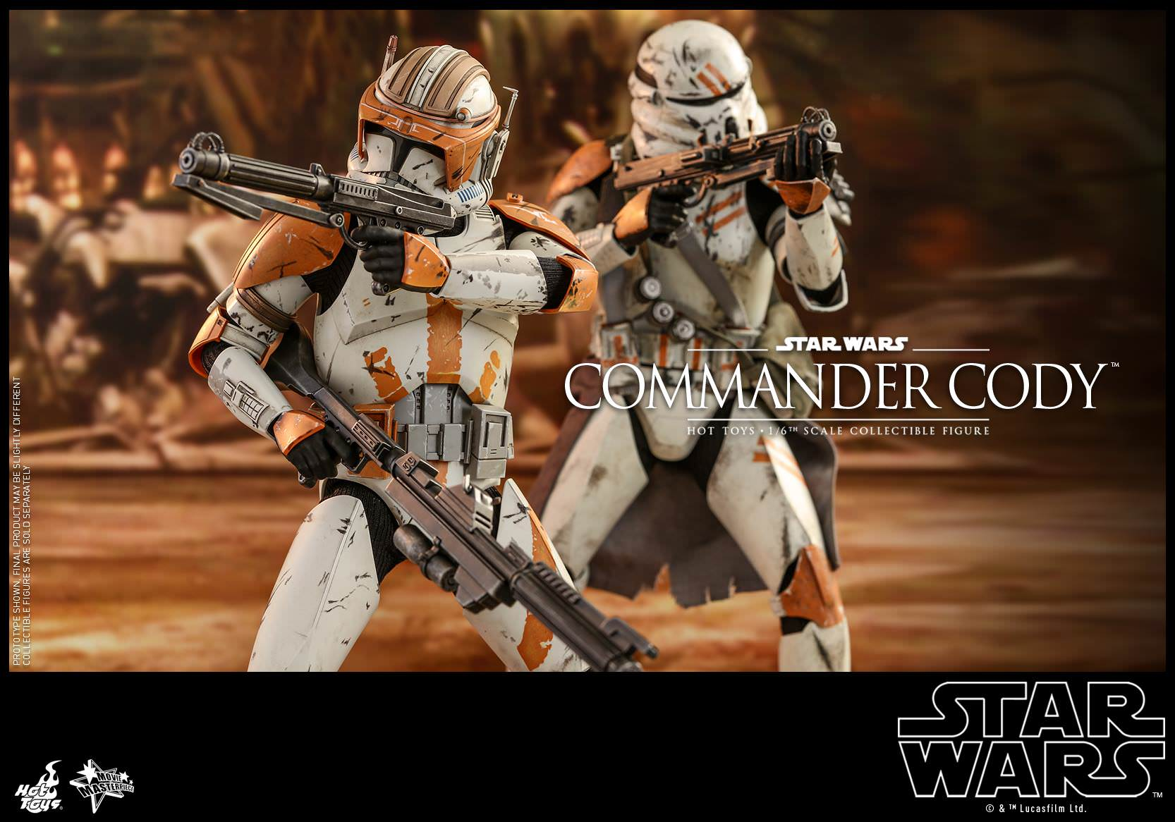 Hot Toys MMS 524 Star Wars III Revenge of the Sith Commander Cody Temuera Morris