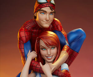 Spider-Man and Mary Jane Maquette Marvel Statue